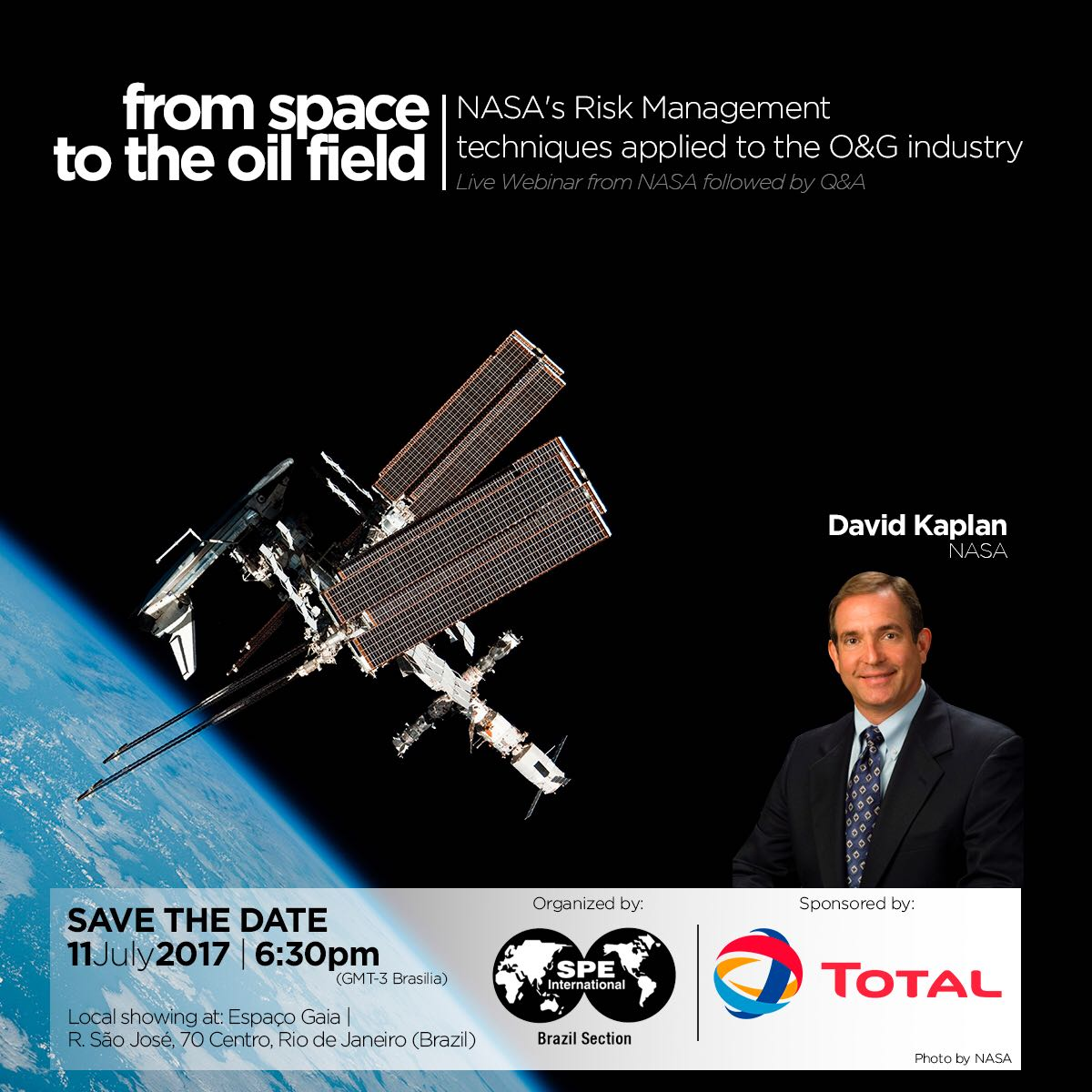 Live Webinar: From space to the oil field – NASA's Risk Management techniques applied to O&G industry