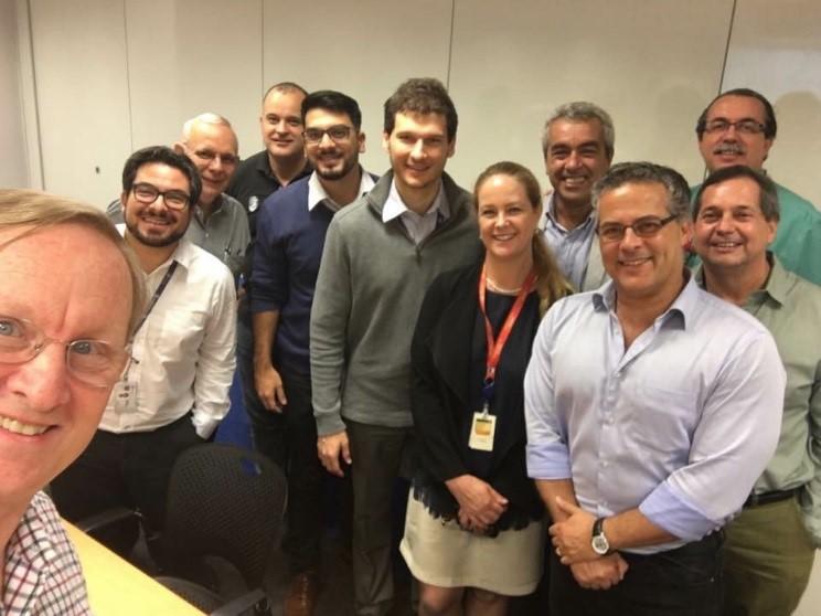 Visita do Presidente da SPE Internacional à Seção Brasil: Dr. Nathan Meehan