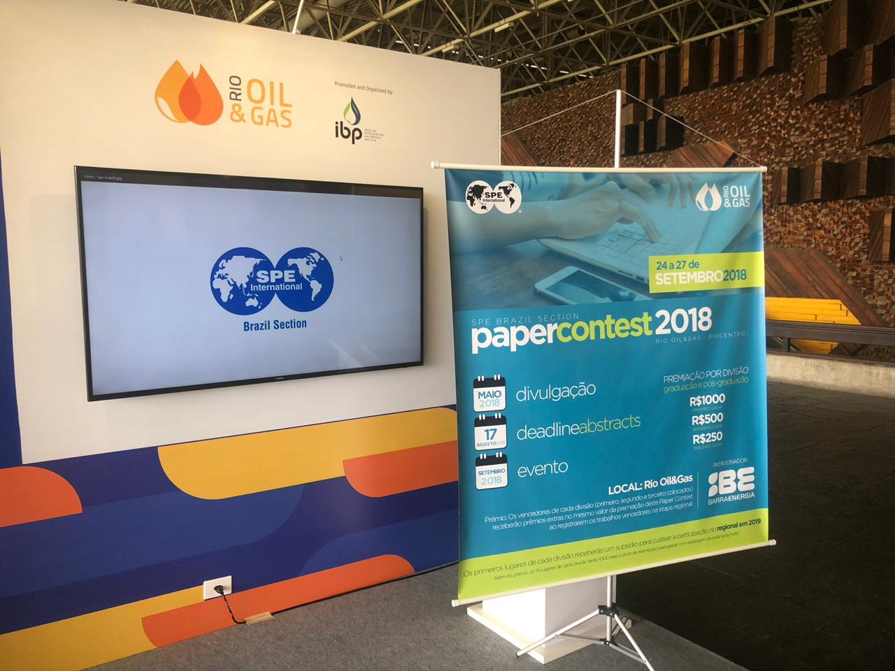 Realizado: SPE Brazil Student Paper Contest 2018