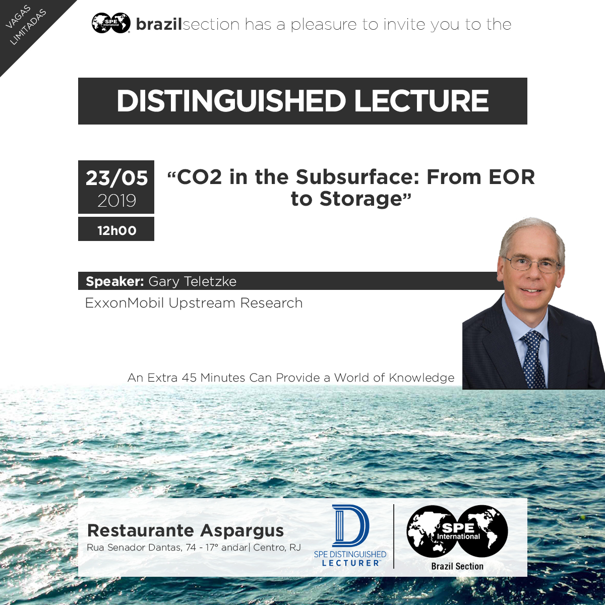 Distinguished Lecturer : 'CO2 in the Subsurface – From EOR to Storage'