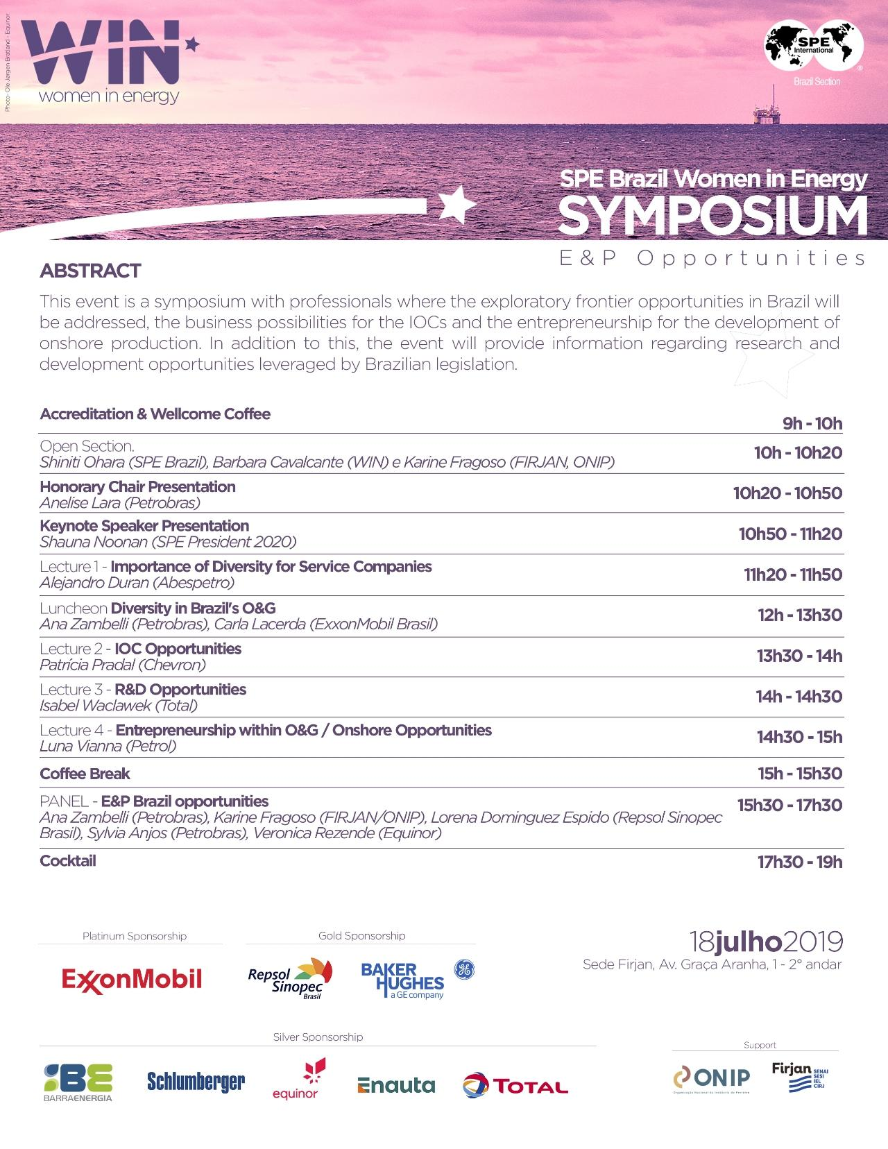 SPE Brazil Women in Energy Symposium: E&P Opportunities