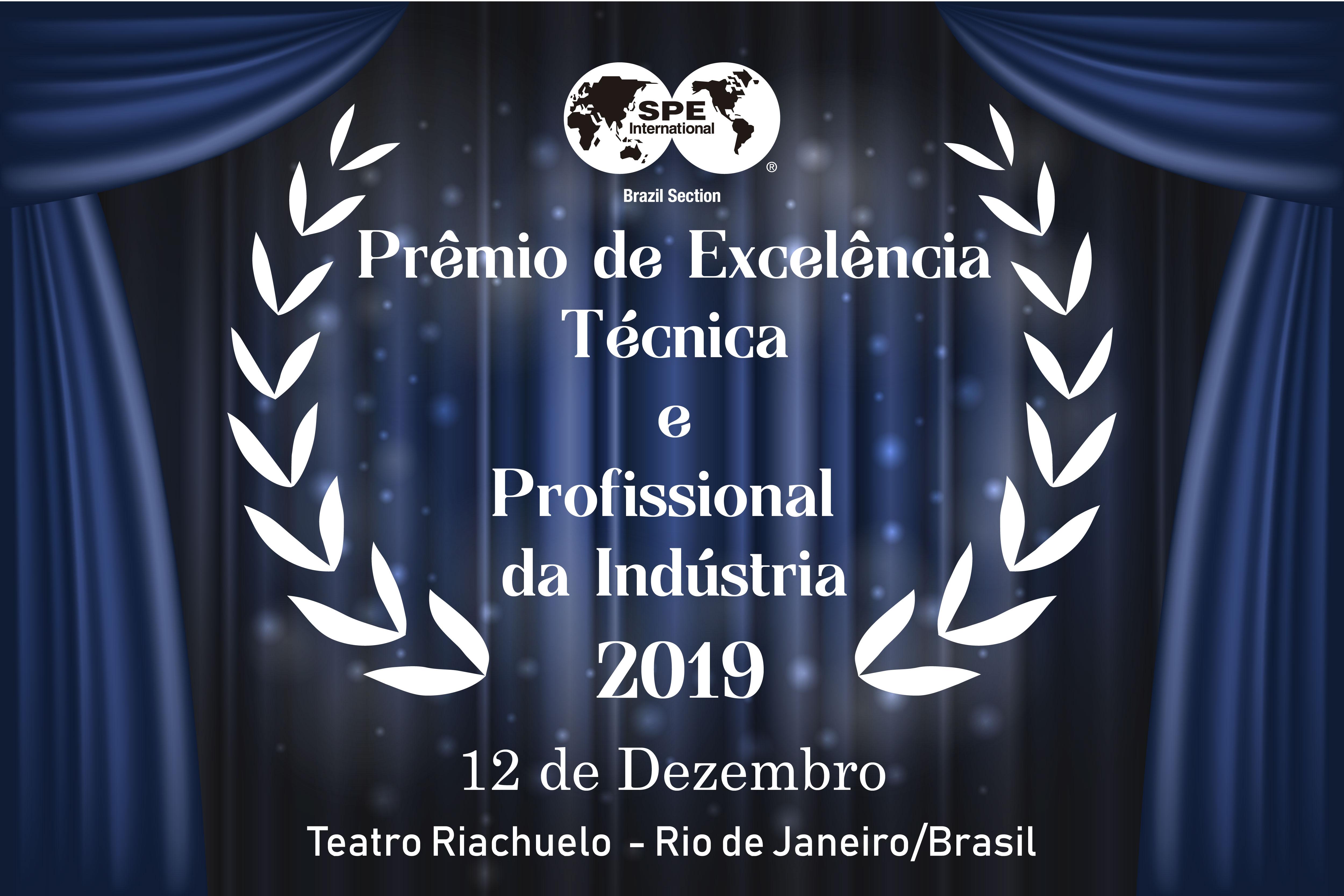 Prêmio de Excelência Técnica e Profissional da Indústria 2019