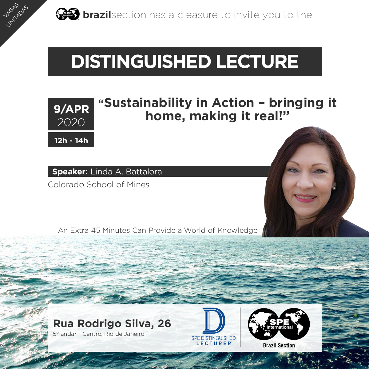 "Distinguished Lecturer: ""Sustainability in Action – bringing it home, making it real!"""
