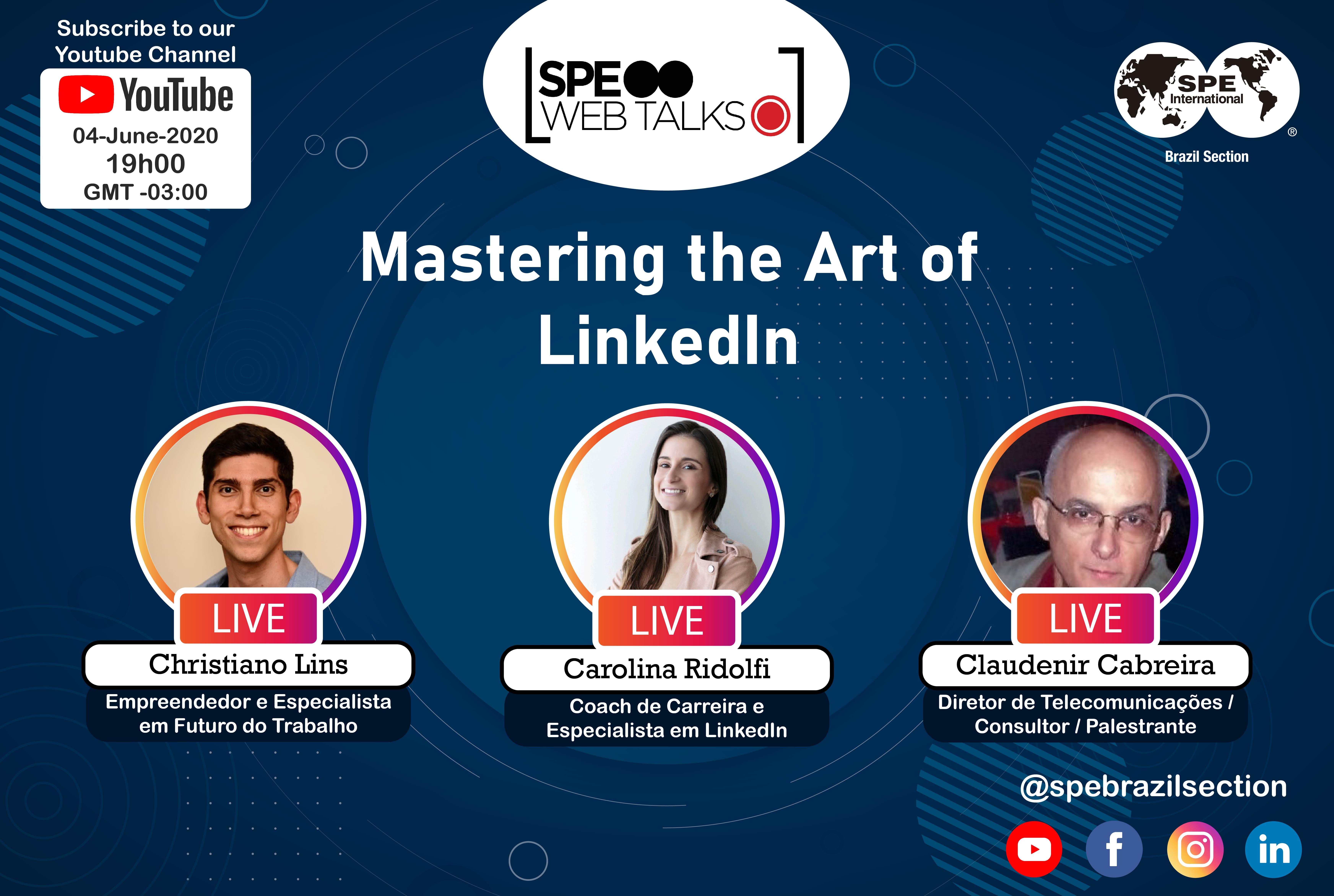 "SPE Web Talks – Session #04: ""Mastering the Art of LinkedIn"""