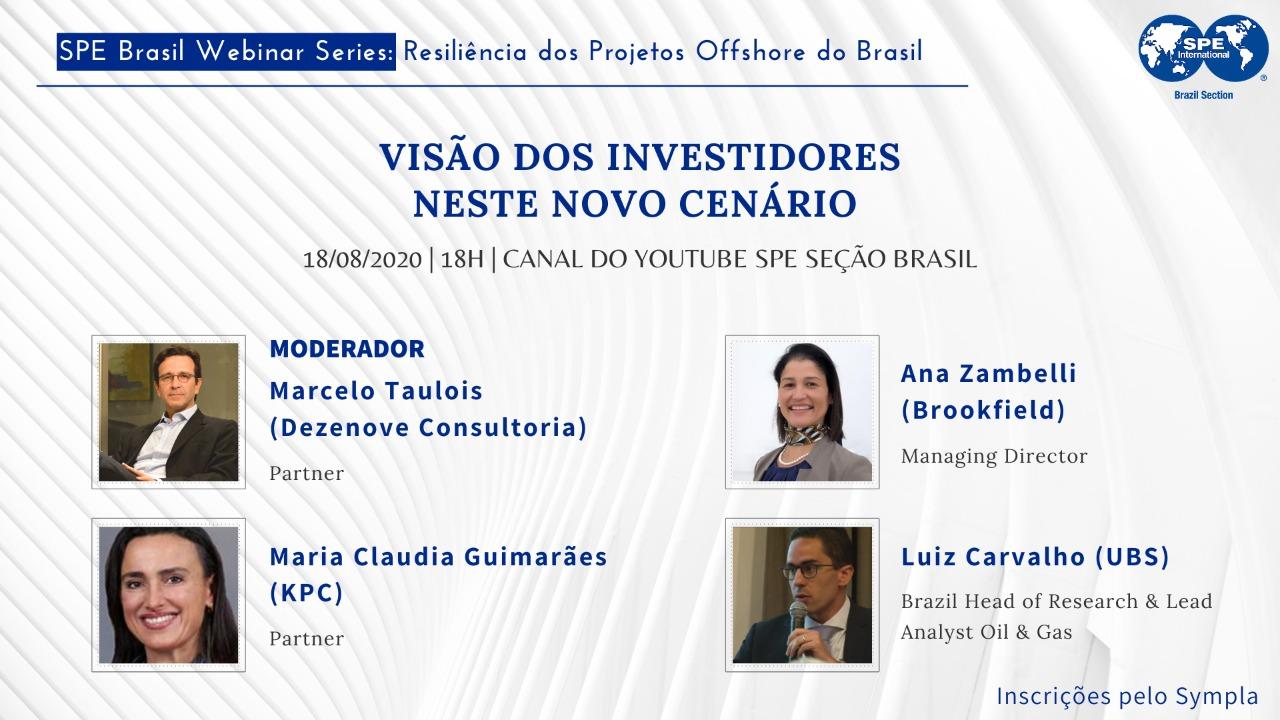 """#03 SPE Brasil Webinar Series: """"Visão dos investidores neste novo cenário"""""""