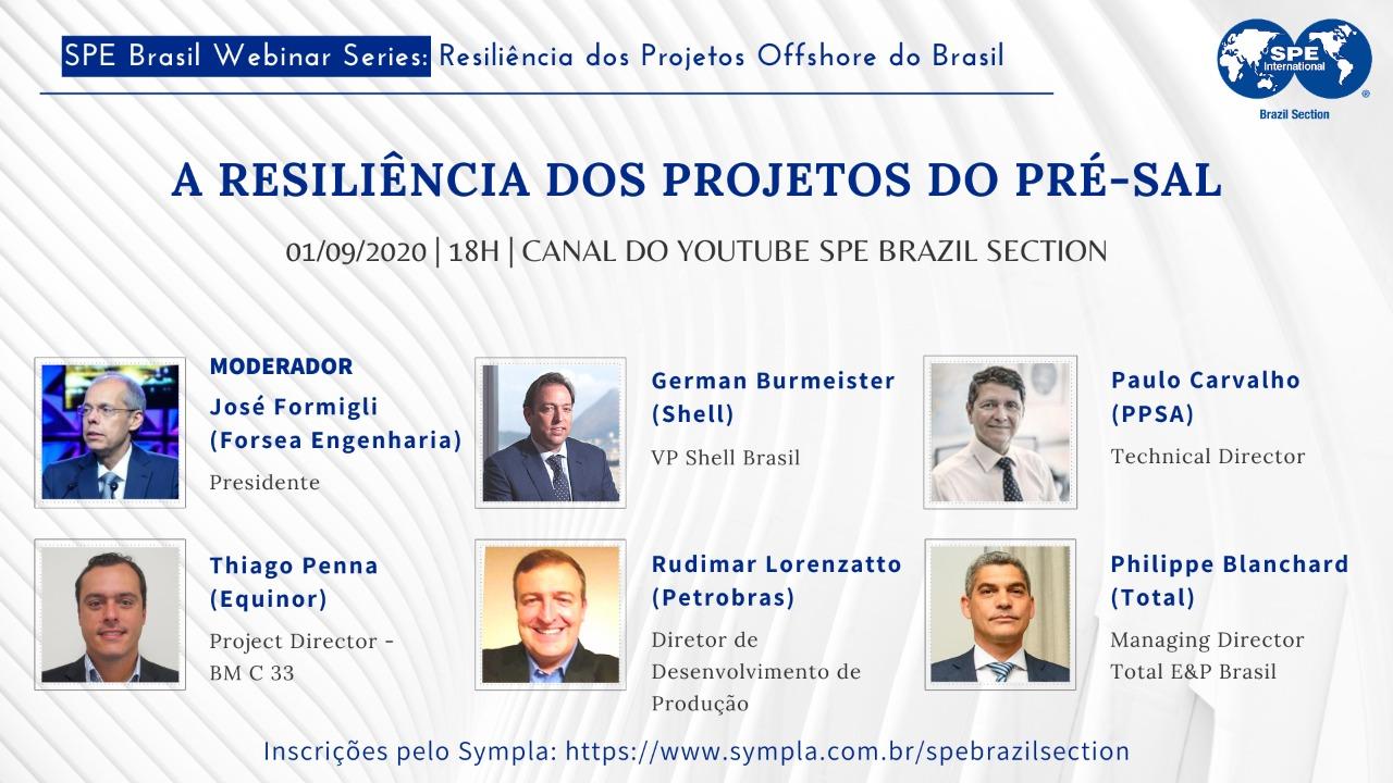 "#05 SPE Brasil Webinar Series: ""Resiliência dos Projetos do Pré-sal"""