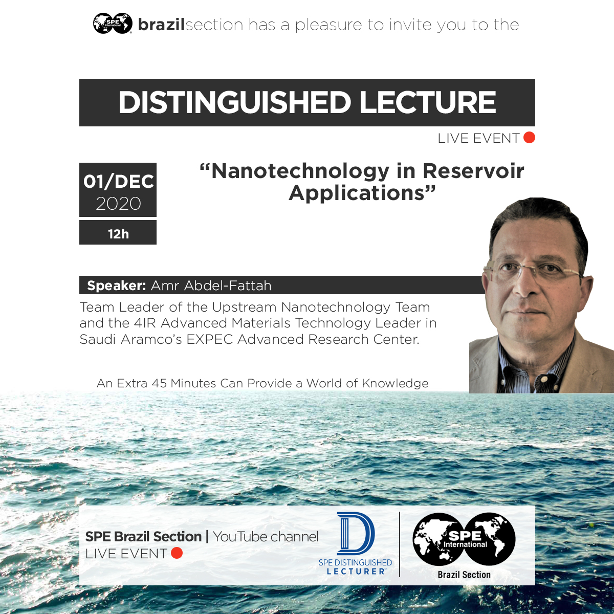 "Distinguished Lecturer: ""Nanotechnology in Reservoir Applications"""
