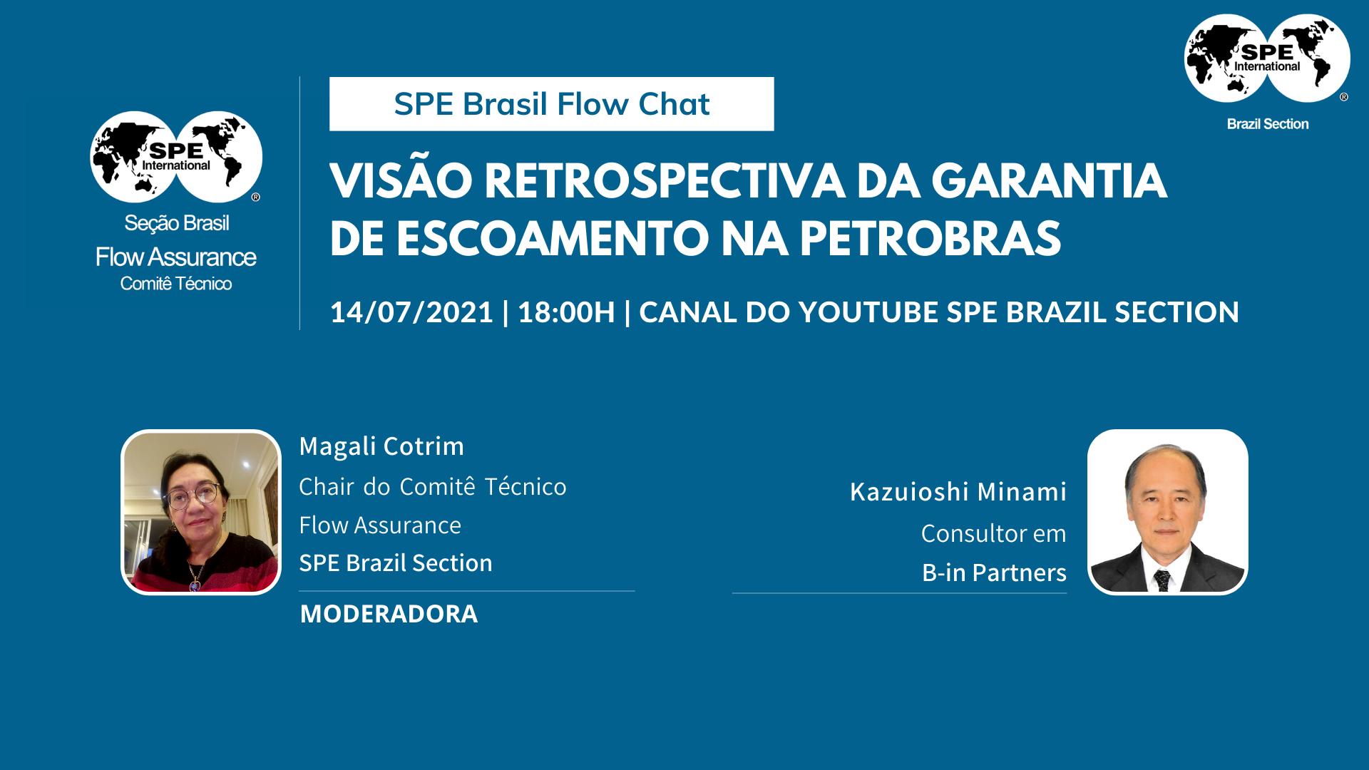 """SPE Brasil Flow Chat #01: """"Visão Retrospectiva da Garantia de Escoamento na Petrobras"""""""