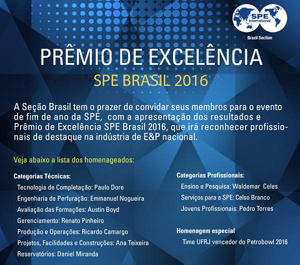 Sobre o Prêmio de Excelência SPE Brasil 2016