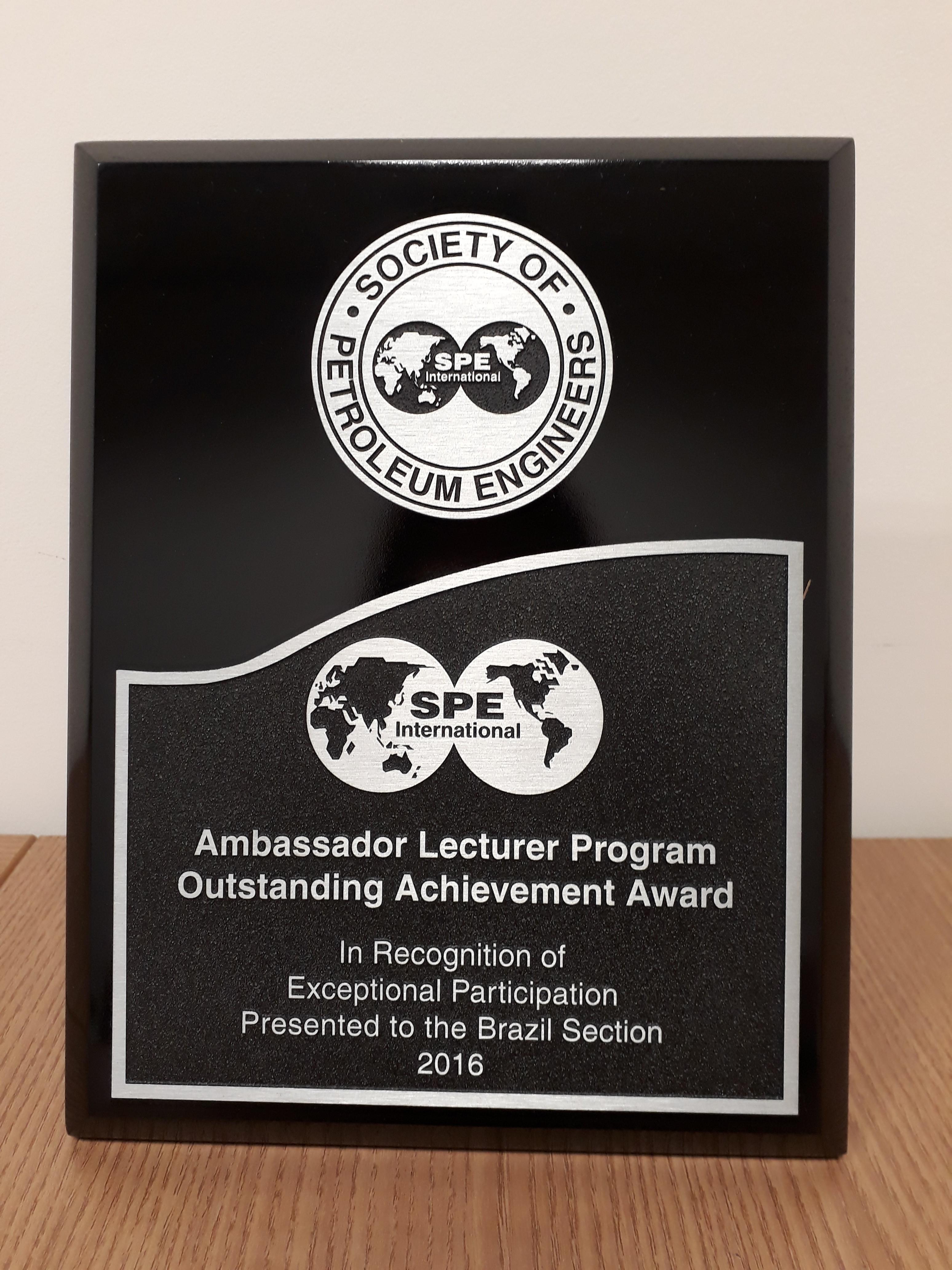 Premio ALP (Ambassador Lecturer Program Outstanding Service Award)