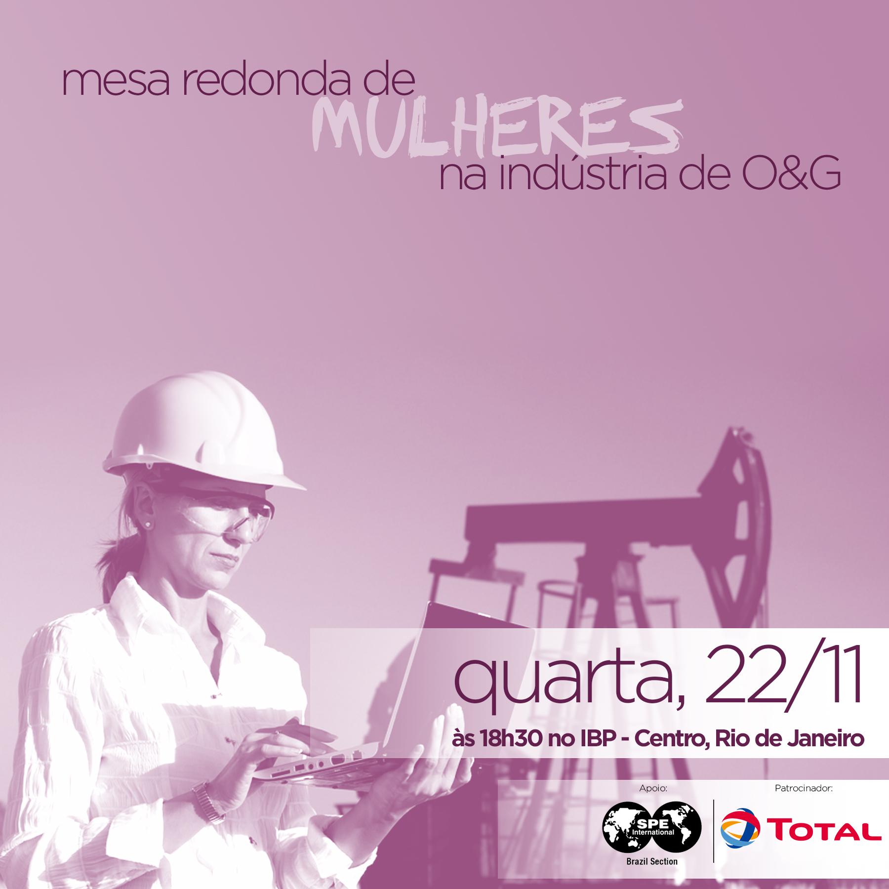 Evento: Mesa redonda de mulheres na indústria de O&G