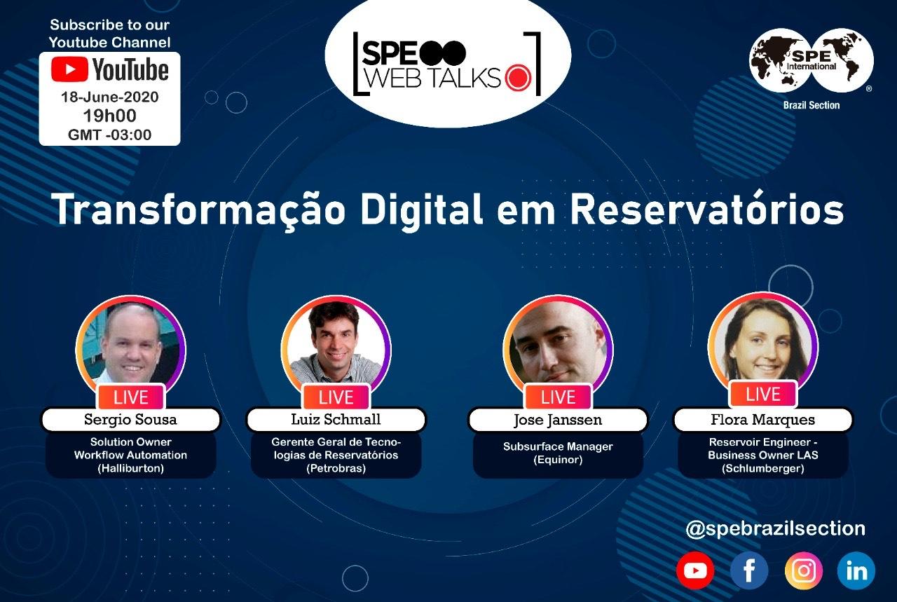 """SPE Web Talks – Session #06: """"Transformação Digital em Reservatórios"""""""
