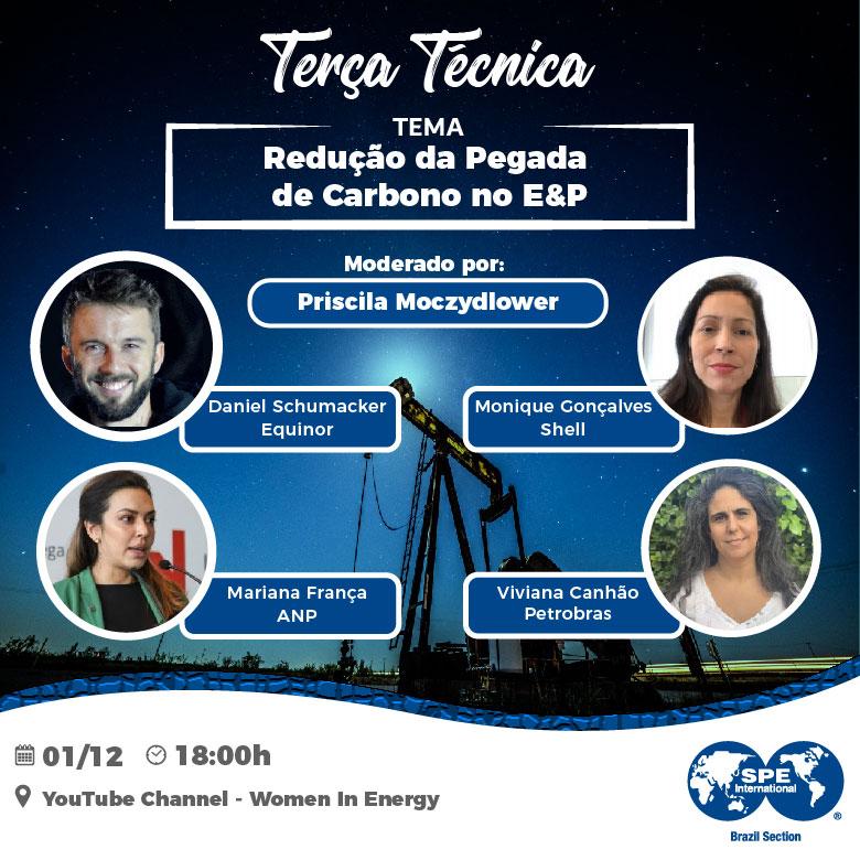"""SPE Brasil Technical Tuesday: """"Redução da pegada de carbono no E&P"""""""