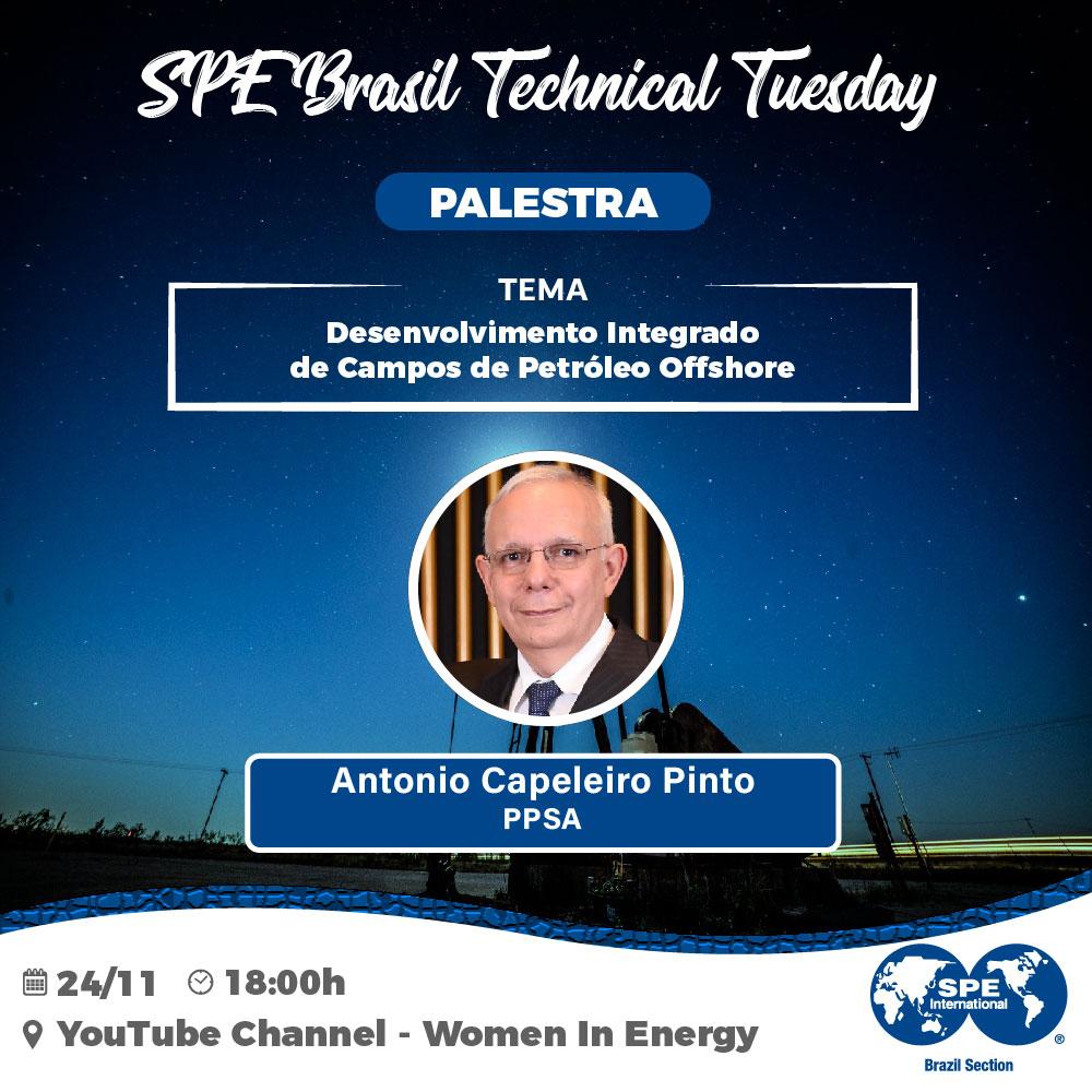 "SPE Brasil Technical Tuesday: ""Desenvolvimento Integrado de Campos de Petróleo Offshore"""