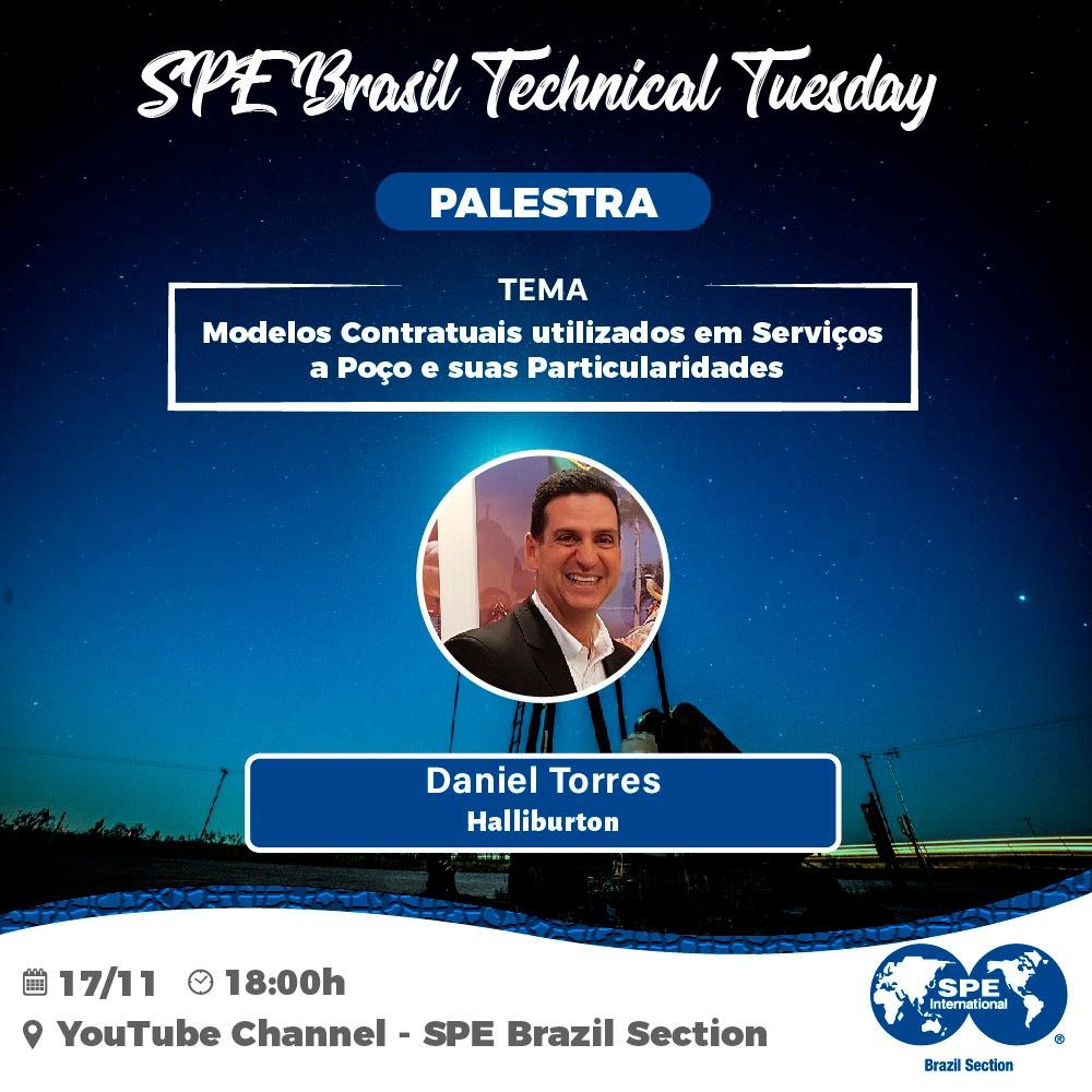 """SPE Brasil Technical Tuesday: """"Modelos Contratuais utilizados em Serviços a Poço e suas Particularidades"""""""