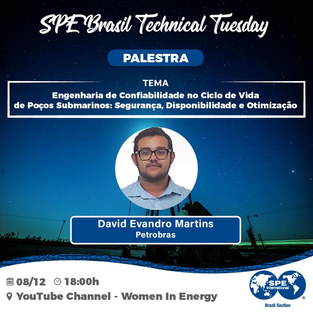 """SPE Brasil Technical Tuesday: """"Engenharia de Confiabilidade no Ciclo de Vida de Poços Submarinos: Segurança, Disponibilidade e Otimização"""""""