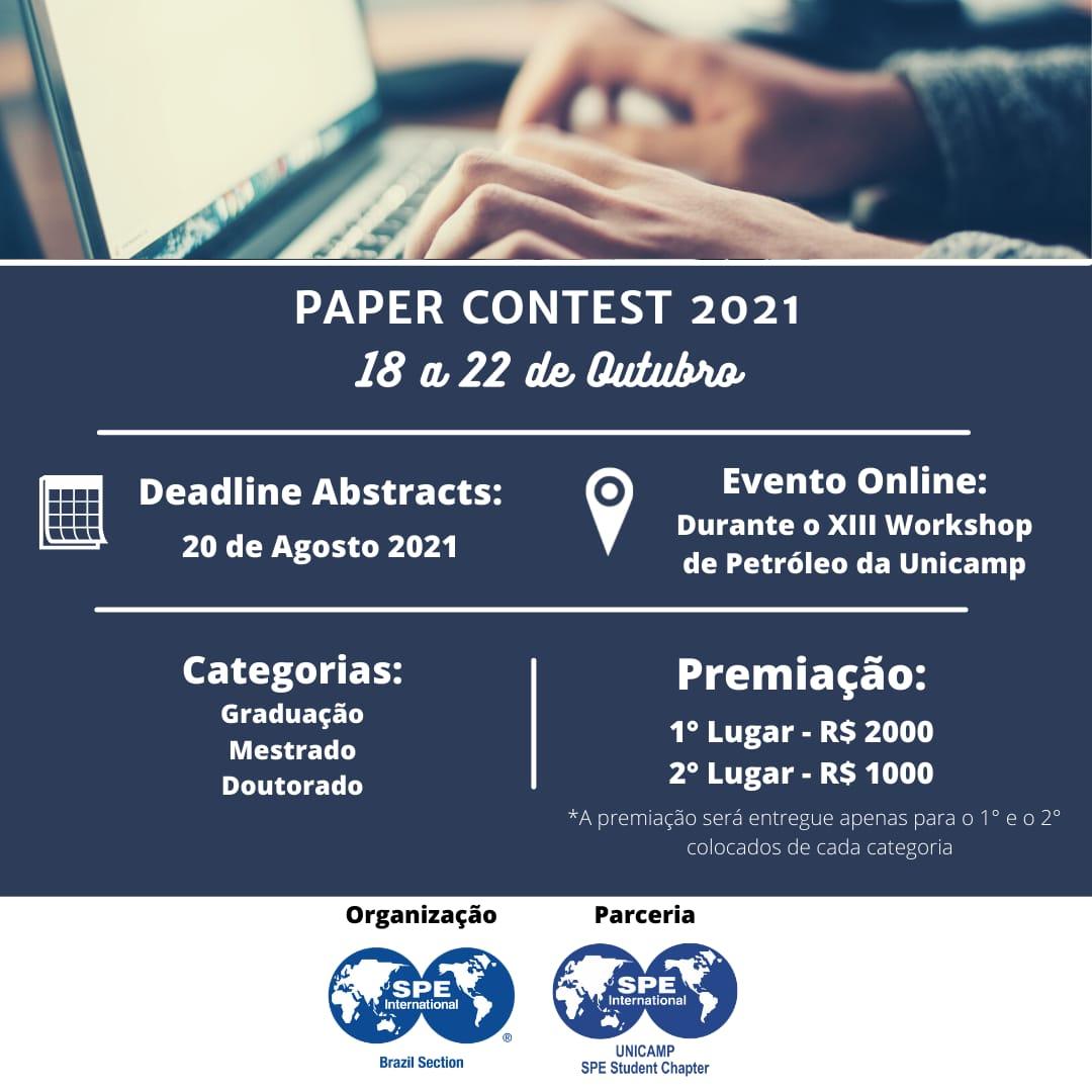 SPE BRAZIL STUDENT PAPER CONTEST 2021