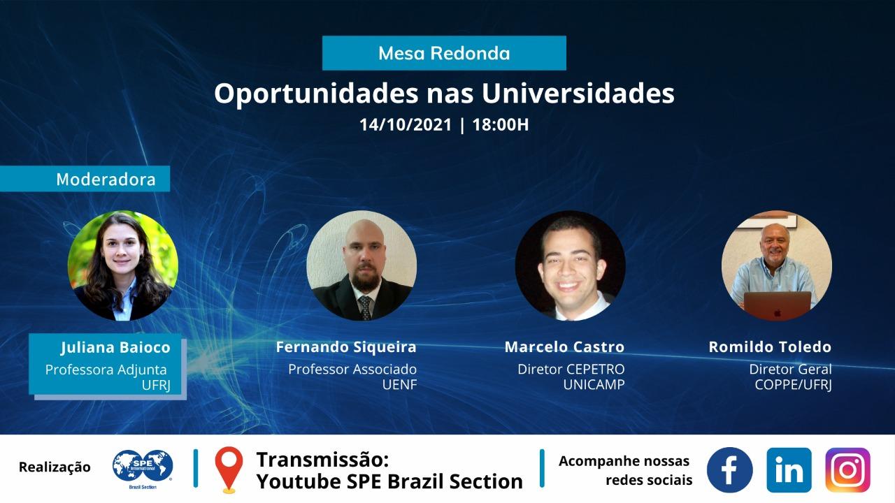 Mesa Redonda: Oportunidades nas Universidades